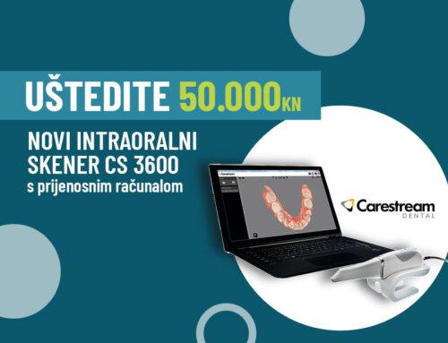 NOVO! CS3600 Intraoralni skener – s popustom od 50.000 kn!